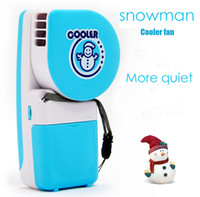 Knob air cooler fan price - Second Generation Mini Handheld Snowman Air Conditioner Portable Cooling Fans USB xAA Battery Dual With Retail Box Free DHL Factory Price