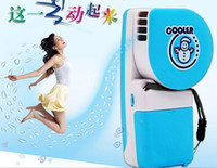 Wholesale Second Generation Mini Handheld Snowman Air Conditioner Portable Cooling Fans USB AA Battery Dual With Retail Box Free DHL Factory Price