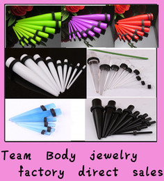 Wholesale Mix Gauge Acrylic Taper straight Ear Expander Stretcher Ear Tunnel Plugs mm Unisex Jewelry