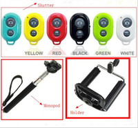 Cheap Extendable Handheld Self portrait Monopod selfie stick Photograph Bluetooth Shutter Camera Remote Control Holder For iPhone Samsung