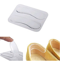 Cheap 2pcs pack Clear Silicone Gel Heels cushion Womens Grips Liners Pads Ladies Sandals Shoes Foot care protecter Comfort Repeatable [CA12006*15]