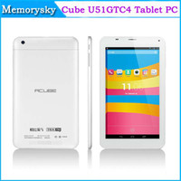 Cube 7 inch Quad Core 7inch Quad core tablet pc phone call Cube U51GTC4 MTK8382 Phablet dual cameras dual sim card 3G WCDMA+2G GSM+Android 4.2+1GB+8GB 002405
