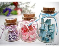 Wholesale Glass Bottle with wood cork milk wishing Creative Christmas Gift Set per set2179