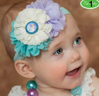 Wholesale New Frozen Girl Headbands Lace Hair Accessories