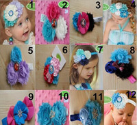 Wholesale Hot sell Frozen Baby Flowers Headbands Children girls Snow Queen Colorful hair bands Childs Lovely Hair Accessories
