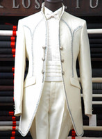Cheap Top Selling ! Custom 2014 White Groom Tuxedos Men's Wedding Groomsmen Dress Party Man For Suits Prom Clothing Cheap Wedding Suits Free Shopp