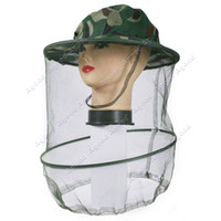 Wholesale Promotion Outdoor Anti Mosquito Bee Bug Mesh Hat Defend Insect Prevention Cap Fishing Camping Cap Sun Hat Anti uv Fishing Tackle SV004164