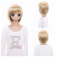 Wholesale 13 Inches Short Straight Hair Cosplay Wigs Axis Powers Hetalia Principality of Liechtenstein cosplay wig one piece HMGH16