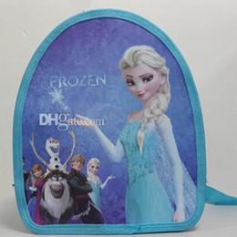 Wholesale Kids Canvas Lunch Bags - 2014 Frozen item series children child schoolbag Anna Elsa backpacks lunch travel bag shoulder bags summer gift for kids student