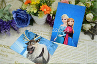 Wholesale Frozen Postcard Snow Queen Anna Elsa Olaf card panner amp cards princess greeting cards