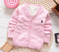 cotton sweater - Children Boys Girls Knitted Cardigan Long Sleeve Single breasted Sweater Childs Outwear White Pink Red Rose Red Blue Gray Dark Blue M0530