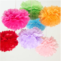 Wholesale 2014 New inches cm Tissue Paper Pom Poms Paper Flowers Ball New Year Decorations And Birthday Decoration