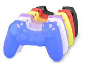 Wholesale Colorful Soft Silicone Gel Rubber Case Skin Grip Cover For SONY Playstation PS4 Controller Video Games Accessory
