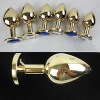 Cheap gold Butt Plug Metal Anal Hook Ball Toy Fisting Toys Jeweled Bondage Gear Metal Sex Products