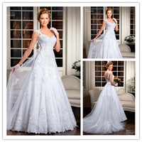 2014 New Custom Made A- line V- Neck Court Train Beautiful App...