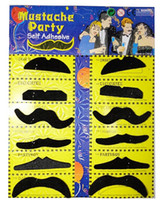 Wholesale 10set Fake Moustache Self Adhesive Mustache Fancy Dress Party Fun Rogue boy set Stylish Assorted