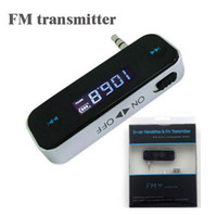 Wholesale Wireless mm Car FM Transmitter Radio For i6 S5 note3 HTC Computer Audio Car FM Transmitter DHL FREE