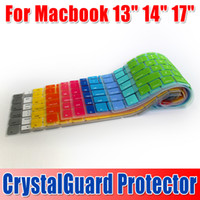 Wholesale Colorful Laptop Silicone KeyBoard Case Protector Cover skin For MacBook with retail package DHL free