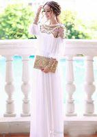 Wholesale floor length heavy beaded chiffon fancy dubai women kaftan abaya evening dress design caftan gown fashion