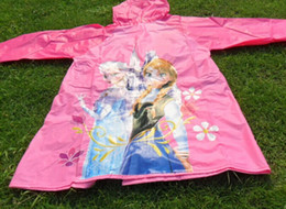 Wholesale New Arrive Frozen Raincoat Frozen Princess Elsa amp Anna Children Raincoat Frozen Series NEW Arrival frozen Children Raincoat