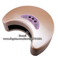 LED LAMP Metal  wholesale 1 pcs lot 6w led 220v big moon shape polish cure dryer manicure nail art lamp