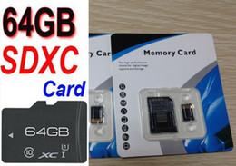Promotion adaptateurs memory stick 64Go SDXC Class 10 Générique Sans nom Unbrand C10 64g Micro SDXC TF Micro SD Carte mémoire SD Adaptateur SDXC 64 Go
