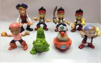 Wholesale Anime Cartoon Jake and The Neverland Pirates PVC Action Figure Toys Dolls set Child Toys Gift