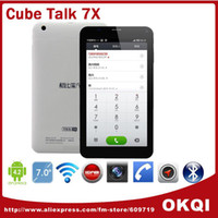 Wholesale quot Cube U51GT Talk X Tablet PC MT8382 Quad Core IPS Screen SIM Card Slot for GSM WCDMA GPS OTG Bluetooth DHL