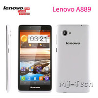 Wholesale Lenovo A889 quot inch Capcitive Screen MTK6582 Quad Core GHz G RAM G ROM Android OS Dual Sim Wcdma G cellphone DHL free