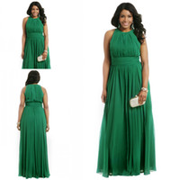 Wholesale 2016 New Design Plus Size Emerald Green Long Formal Vestido De Festa Evening Dress Women Event Gown ZED