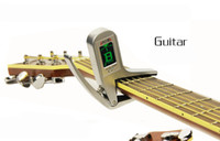 Wholesale New Bramd Aroma AC Accurate Acoustic Guitar Chromatic Tuner electric guitars Transposition clamp Capo by DHL