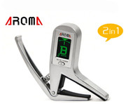 aroma digital tuner - Aroma AC Accurate Acoustic Guitar Chromatic Digital Tuner electric guitars Transposition clamp Capo