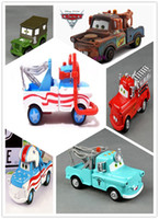 Wholesale 6pcs Copy Pixar Cars Diecast Figure Toys Collections for kids gifts Stunt helmet Mater Doctor Mater Fire Car Diver Mater Brown Mater Army