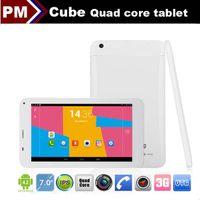 "Under $200 7 inch Dual Core Cube U51GTC4 Talk 7X MTK8382 Quad core tablet phone call 7"" IPS dual cameras dual sim card 3G Android 4.2 1GB 8GB GPS FM Bluetooth 002405"