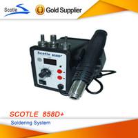 Cheap Shipping From UK scotle 858D+ 220V EU Desoldering Tool Hot Air Gun Soldering Station Heat gun Duty-Free
