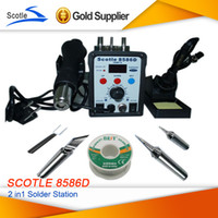 Cheap Free shipping Hot Air Rework Station Soldering Machine Desoldering Station 2in1