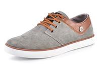 Wholesale New men s casual shoes Skate Shoes Canvas shoes Breathable Skate Shoes Canvas shoes gray