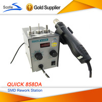 Cheap New Arrival 220V QUICK 858 858DA SMD Rework Station Desoldering Station Hot Air Gun Heat Gun