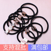 Wholesale Cartoon gold buckle Tousheng hair rubber band rope spread Korean hair ring purchase dollar store in Yiwu sourcing B21