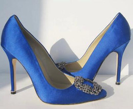 Wholesale fashion star models female diamond wedding shoes pointed high heeled shoes with thin silk satin shoes