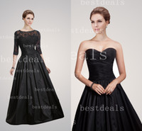 2014 black taffeta sweetheart ruffle A line mother of the br...