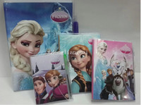Wholesale 400pc Frozen Book Notebook with a Pen Student Diary Frozen Elsa Anna Book Student Notepad pages CM Z397