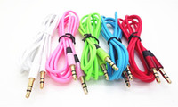Wholesale Aux Cable Male to Male M M mm Audio Stereo Cord for iPhone s Samsung Galaxy s3 s4 s5 iPod MP3