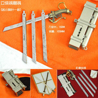 Wholesale Attack on Titan Shingeki no Kyojin SNK Military Eren Jaeger Cosplay Model Matel Sword Knife Weapon Silver