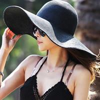 sun hats women - BEST HAT women Wide Large Floppy Brim Summer Beach Sun Straw Beach Derby Hat Cap Packable Flexible A446