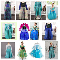 TuTu Spring / Autumn A-Line AAA Quality 1PC Newest Frozen Autumn Dress Princess Dresses Elsa & Anna Long Sleeve Children Baby Girl Party Birthday Dresses Multi-Styles