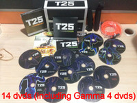 Wholesale Top Quality Brand New T25 Body Building DVD Shaun T s Crazy Fitness Teaching Video Scientific Slimming Best