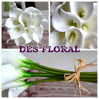 Wholesale Artificial flowers PU Real Touch White Mini Calla Lily for Wedding Decoration