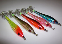 Wholesale by China post squid jigs mixed colors Strong fishing hook and Fishing Baits amp Lures