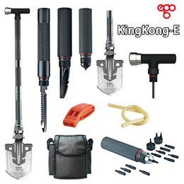 Wholesale DHL kingkong Upscale Outdoor multifunctional shovel Outdoor survival shovel knife Camping shovel car emergency tool